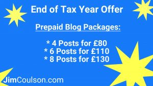 End of Tax Year Blog Offer