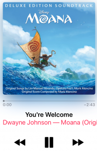 Moana Streamed on Apple Music
